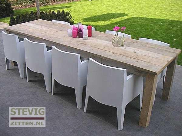 Meubels steigerhouten tafels op maat gemaakt heerde for Zelf tuintafel maken van steigerhout